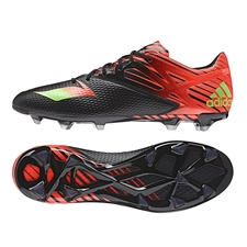 Adidas Messi 15.2 FG/AG Soccer Cleats (Black/Solar Green/Solar Red)