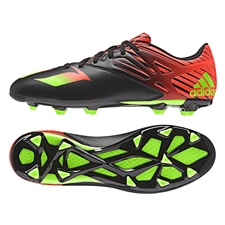 Adidas Messi 15.3 FG/AG Soccer Cleats (Black/Solar Green/Solar Red)