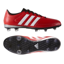 Adidas Gloro 16.1 FG Soccer Cleats (Vivid Red/White/Matte Silver)