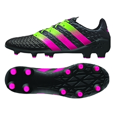 Adidas ACE 16.1 FG/AG Soccer Cleats (Black/Solar Green/Shock Pink) | Adidas Soccer Cleats |FREE SHIPPING| Adidas AF5083 | SoccerCorner.com