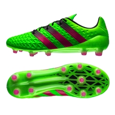 Adidas ACE 16.1 FG/AG Soccer Cleats (Solar Green/Shock Pink/Black) | Adidas Soccer Cleats |FREE SHIPPING| Adidas AF5083 | SoccerCorner.com