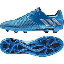 Adidas Messi 16.2 FG Soccer Cleats (Shock Blue/Metallic Silver)