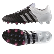 Adidas ACE 15+ Primeknit FG Soccer Cleats (Black/Metallic Silver/White) | Adidas Soccer Cleats |FREE SHIPPING| Adidas AQ3373