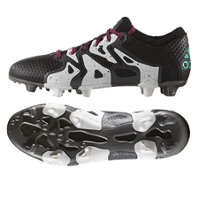 Adidas X 15+ Primeknit FG Soccer Cleats (Black/Shock Mint/White) | Adidas Soccer Cleats |FREE SHIPPING| Adidas AQ3374
