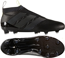 Adidas ACE 16+ PURECONTROL FG Soccer Cleats (Black/Solar Yellow) | AQ3807