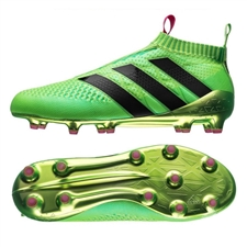Adidas ACE 16+ PURECONTROL FG/AG Soccer Cleats (Solar Green/Shock Pink/Black) | Adidas Soccer Cleats |FREE SHIPPING| Adidas AQ4999 | SoccerCorner.com