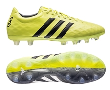 Adidas adiPure 11Pro FG Soccer Cleats (Light Flash Yellow/Black/Semi Solar Yellow)