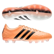 Adidas adiPure 11Pro FG Soccer Cleats (White/Black/Flash Orange)