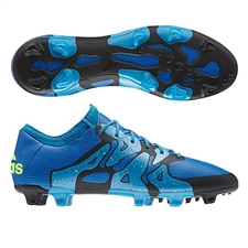Adidas X 15.1 FG/AG Soccer Cleats (Solar Blue/Solar Yellow/Black)