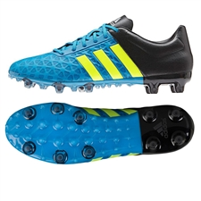 Adidas ACE 15.2 FG/AG Soccer Cleats (Solar Blue/Solar Yellow/Black)