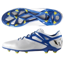 Adidas Messi 15.1 FG/AG Soccer Cleats (White/Pride Blue/Black)