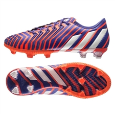 Adidas Predator Instinct FG Soccer Cleats (Solar Red/White/Night Flash)