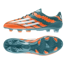Adidas Messi mirosar 10.1 FG Soccer Cleats (Power Teal/White/Solar Orange)