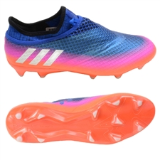 Adidas Messi 16+ PureAgility FG Soccer Cleats (Blue/White/Solar Orange)