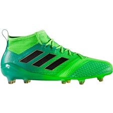 Adidas ACE 17.1 Primeknit FG Soccer Cleats (Solar Green/Core Black/Core Green) | BB5961