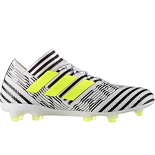 Adidas Nemeziz 17.1 FG Soccer Cleats (White/Solar Yellow/Core Black) | BB6075