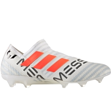 Adidas Nemeziz Messi 17+ 360Agility FG Soccer Cleats (White/Solar Orange/Clear Grey) | BY2402