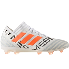 Adidas Nemeziz Messi 17.1 FG Soccer Cleats (White/Solar Orange/Clear Grey) | BY2405