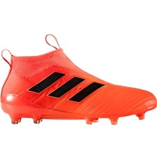Adidas ACE 17+ Purecontrol FG Soccer Cleats (Solar Orange/Core Black/Solar Red) | BY2457
