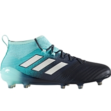 Adidas ACE 17.1 Primeknit FG Soccer Cleats (Energy Aqua/White/Legend Ink) | BY2458