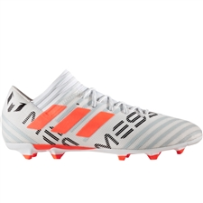 Adidas Nemeziz Messi 17.3 FG Soccer Cleats (White/Solar Orange/Clear Grey) | CG2965