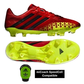 Adidas Soccer Cleats | FREE SHIPPING | D66174 | Adidas Predator LZ TRX FG Soccer Cleats (Vivid Red/Black/Electricity)