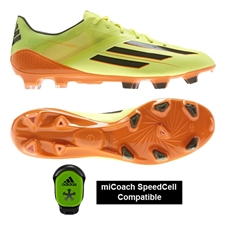 Adidas Soccer Cleats |FREE SHIPPING| Adidas D67119| Adidas F50 adizero (Synthetic) TRX FG Soccer Cleats (Glow/Earth Green/Solar Zest) |
