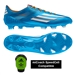 Adidas Soccer Cleats |FREE SHIPPING| Adidas D67203| Adidas F50 adizero (Synthetic) TRX FG Soccer Cleats (Solar Blue/Running White/Solar Zest) |