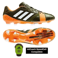 Adidas Soccer Cleats | FREE SHIPPING | F32766| Adidas Nitrocharge 1.0 TRX FG Soccer Cleats (Earth Green/White/Solar Zest)