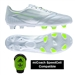 Adidas Soccer Cleats |FREE SHIPPING| Adidas F32789| Adidas F50 adizero (Leather) TRX FG Soccer Cleats (Running White/Running White/Solar Slime) |