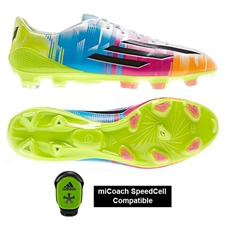 Adidas F50 Adizero-Messi (Synthetic) TRX FG Soccer Cleats (White/Black/Solar Slime)