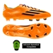 Adidas Soccer Cleats |FREE SHIPPING| Adidas F32800| Adidas F50 adizero (Synthetic) TRX FG Soccer Cleats (Solar Zest/Black/Blast Purple) |