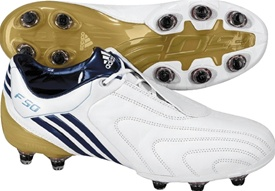 Adidas +F50i TUNiT - Leather (White/Navy/MtlcGold)