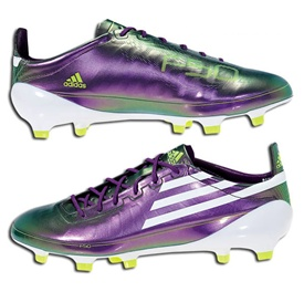 Adidas F50 adiZero TRX Synthetic Firm Ground Soccer Cleats (Chameleon Purple/White/Electricity)