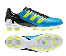 Adidas Predator Absolion TRX FG Soccer Cleats (Sharp Blue Metallic/Electricity/Black)