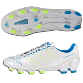 Adidas adiPower Predator SL TRX FG Soccer Cleats (Running White/Electricity/Sharp Blue)
