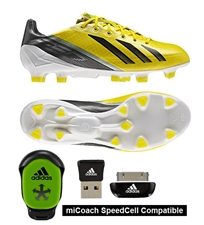Adidas F50 adizero (Synthetic) TRX FG Soccer Cleats (Vivid Yellow/Black/Green Zest)