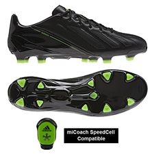 Adidas Soccer Cleats |FREE SHIPPING| Adidas G96921| Adidas F50 adizero (Leather) TRX FG Soccer Cleats (Black/Black/Electricity)) |
