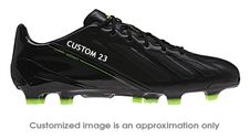 Adidas Soccer Cleats |FREE SHIPPING| Adidas G96921| Adidas F50 adizero (Leather) TRX FG CUSTOM Soccer Cleats (Black/Black/Electricity) |
