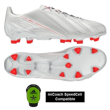 Adidas Soccer Cleats |FREE SHIPPING| Adidas G96922 | Adidas F50 adizero (Leather) TRX FG Soccer Cleats (Running White/Running White/Infrared) |