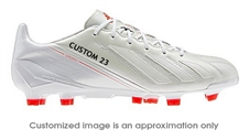 Adidas Soccer Cleats |FREE SHIPPING| Adidas G96922| Adidas F50 adizero (Leather) TRX FG CUSTOM Soccer Cleats (Running White/Running White/Infrared) |