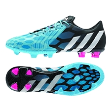 Adidas Predator Instinct FG Soccer Cleats (Solar Blue/Core White/Core Black)