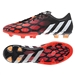 Adidas Predator Instinct FG Soccer Cleats (Core Black/Core White/Solar Red)
