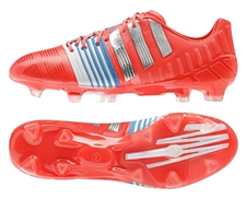 Adidas Nitrocharge 1.0 TRX FG Soccer Cleats (Solar Red/Silver Metallic/Core White)