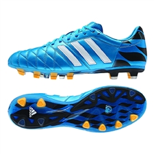 Adidas adiPure 11Pro TRX FG Soccer Cleats (Solar Blue/Football White/Gold Metallic)