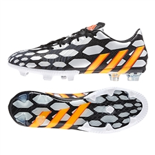Adidas Soccer Cleats | FREE SHIPPING | M19888 |Adidas Predator Instinct Battle Pack  FG Soccer Cleats (Black/Solar Gold/Core White)