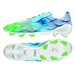Adidas Nitrocharge 1.0 Crazylight FG Soccer Cleats (White/Solar Green/Solar Blue)