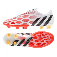 Adidas Predator Instinct FG Soccer Cleats (Core White/Core Black/Solar Red)