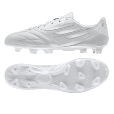 Adidas F50 adizero (Leather) TRX FG Soccer Cleats (Running White/Running White/Metallic Silver) |Adidas Soccer Cleats |FREE SHIPPING| Adidas F32789| SOCCERCORNER.COM