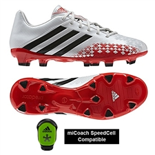 Adidas Predator Absolado LZ TRX FG Soccer Cleats (Running White/Black/Hi-Res Red) - mi Coach Compatible (Sold Seperately)
